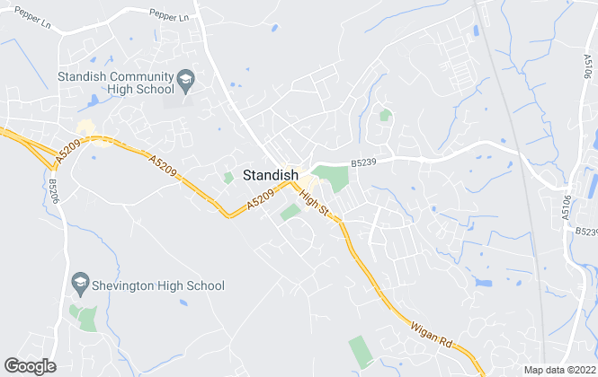 Map for Regan & Hallworth, Standish