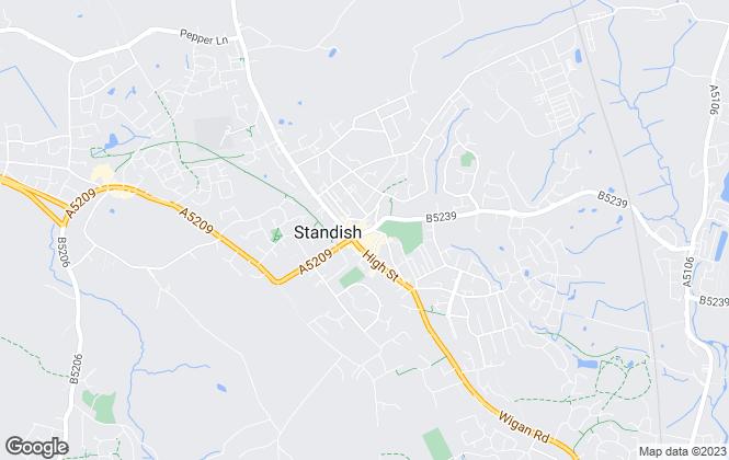 Map for Winnard & Brown, Wigan - Lettings