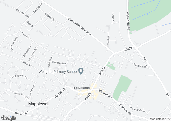 Map for New Road, Staincross, Barnsley
