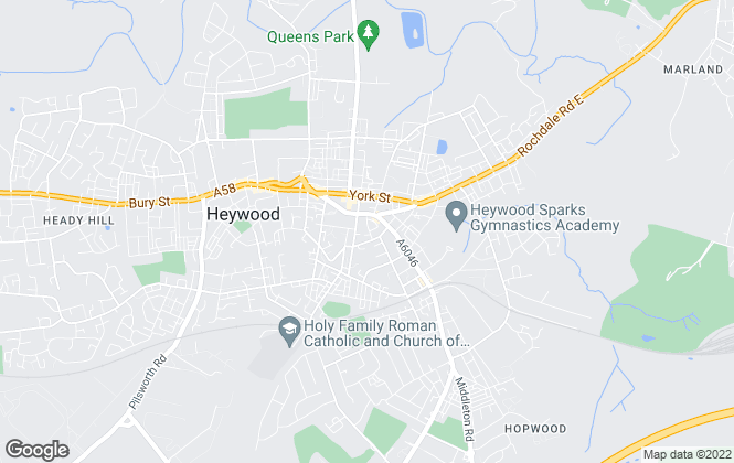 Map for Choice Estates, Heywood