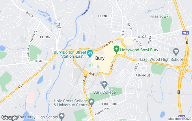 Map for Cardwells Sales, Lettings, Management & Commercial, Bury