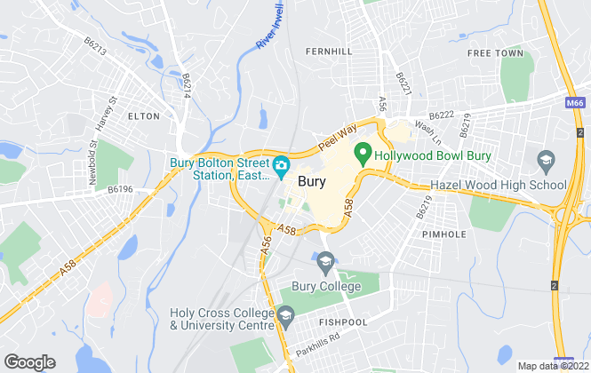 Map for Move On Properties, BURY