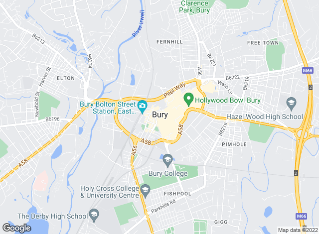 Map for Rayson Wilshaw Estate Agents, Bury - Lettings