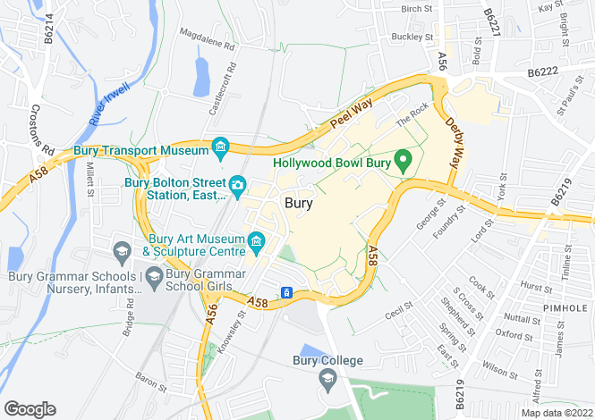 Map for Commercial Property, Crompton Mews, Crompton Street, Bury, Greater Manchester