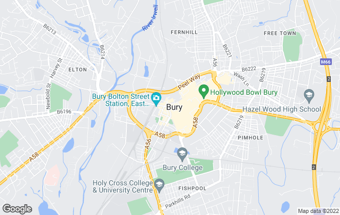 Map for Reeds Rains, Bury
