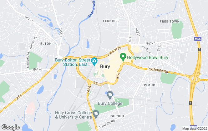 Map for Entwistle Green, Bury