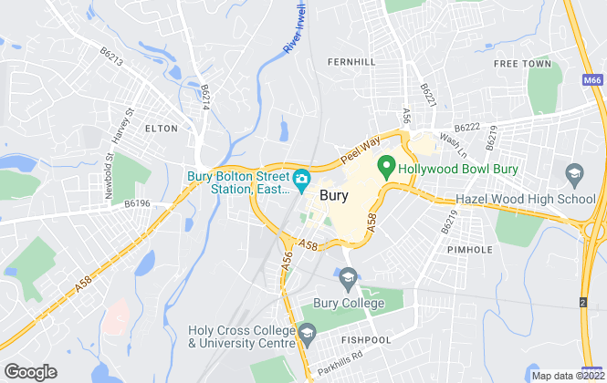 Map for Harrison Estate Agents, Bury