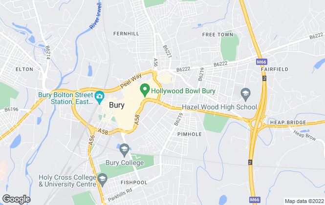Map for Harvey Dean Estate Agents, Bury