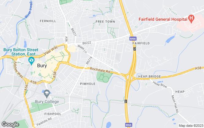 Map for Belvoir Sales, Bury