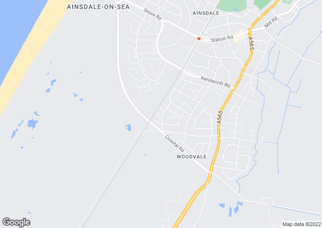 Map for Kendal Way, Ainsdale, Merseyside