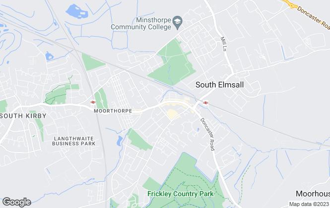Map for Whitegates, Hemsworth & South Elmsall