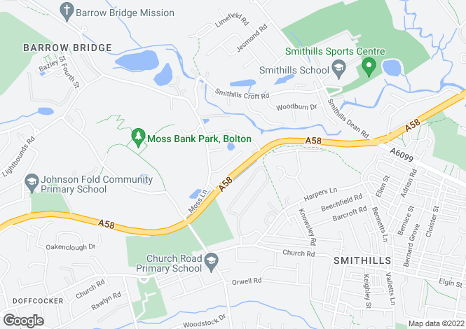 Map for Kenwood Road Smithills Bolton Lancashire