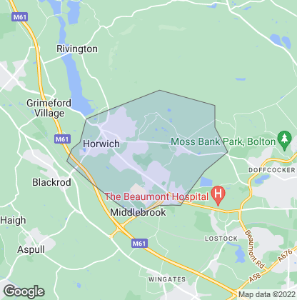 Map of property in Horwich