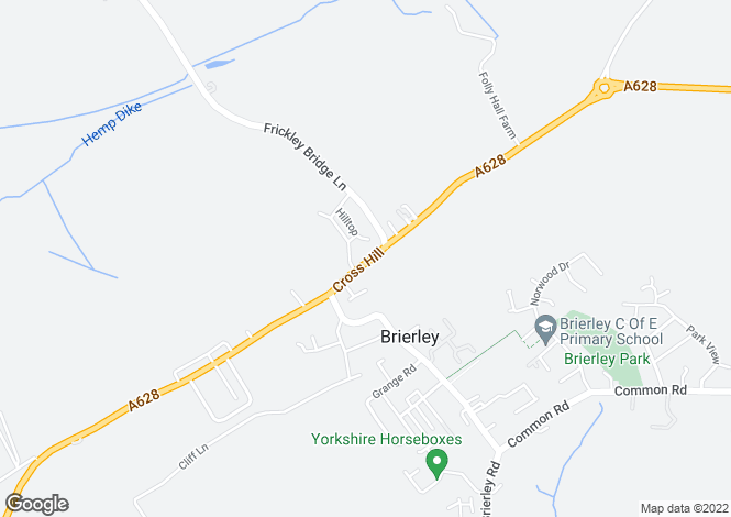 Map for Cross Hill, Brierley, Barnsley S72
