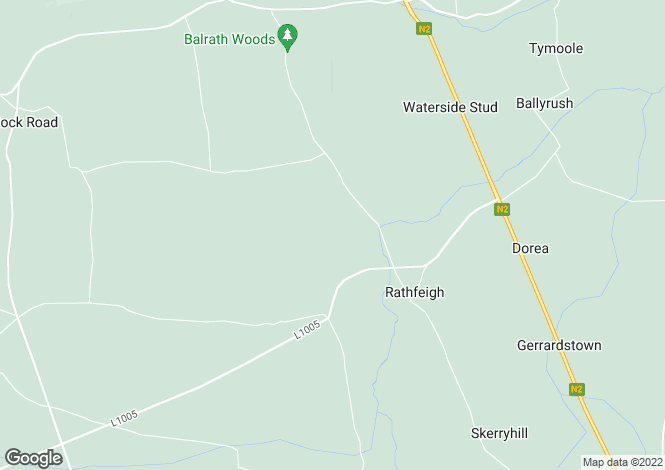 Map for Residence & Commercial Business - Bellew, Rathfeigh, Tara, Navan, Meath