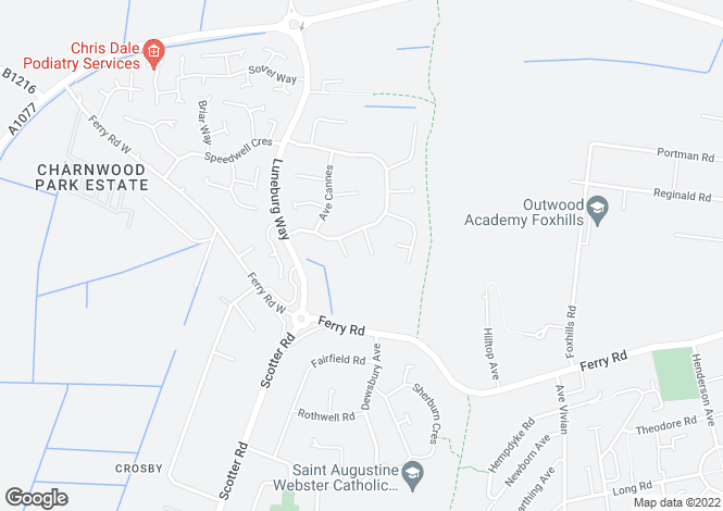 Map for Kingfisher Close, Scunthorpe