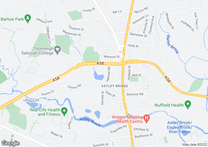 Map for Hill View Court, Astley Bridge, Bolton, Lancashire