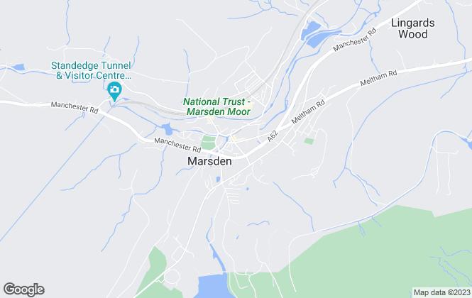 Map for Jane Stocks Estate Agency, Marsden
