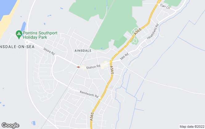 Map for Ball & Percival, Ainsdale