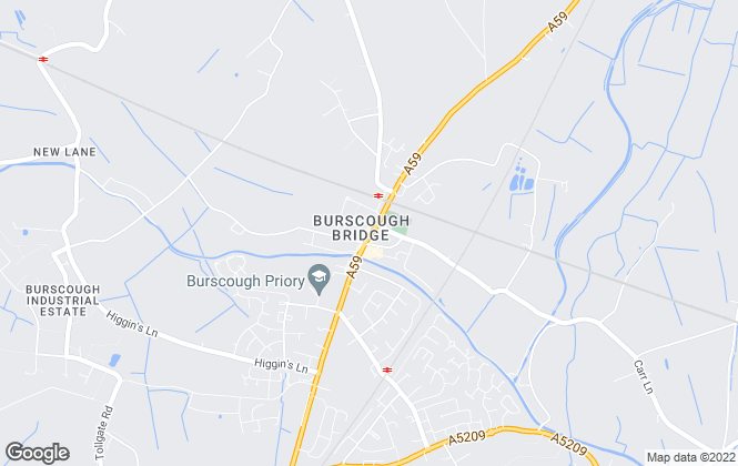 Map for Moving Works, Burscough