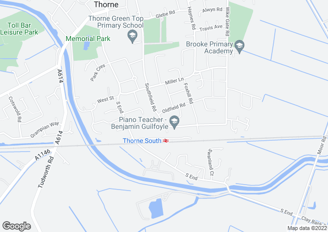 Map for Southfield Road, Thorne, Doncaster, DN8