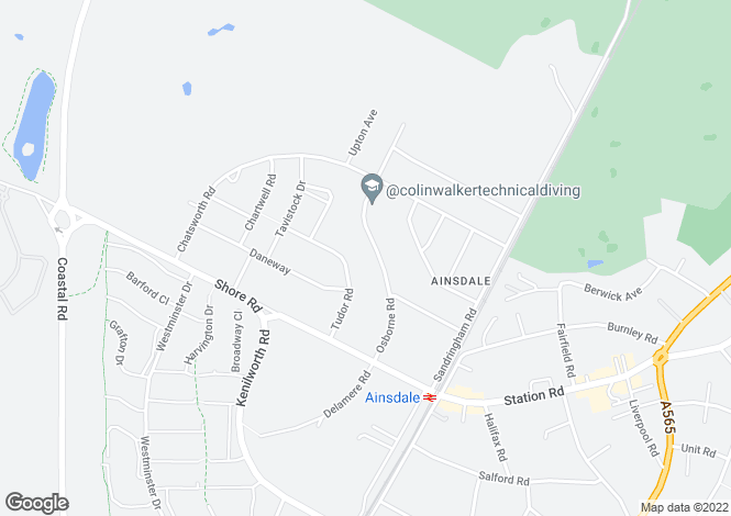 Map for Osborne Road, Ainsdale