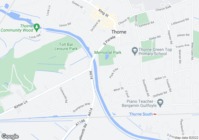 Map for West Street, Thorne, Doncaster, South Yorkshire, DN8