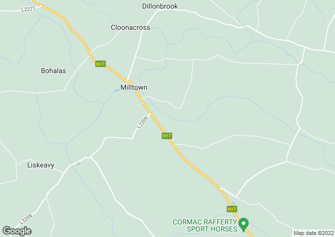 Map for Milltown, Galway