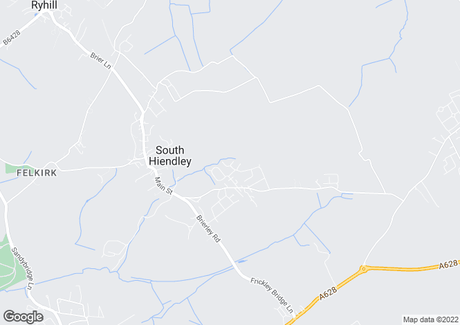 Map for Bramble Road  South Hiendley  Barnsley