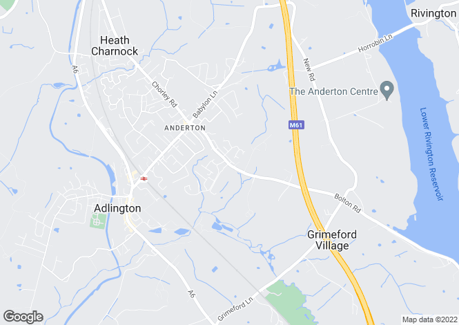 Map for Boltom Road, Anderton