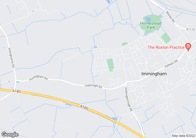 Map for Brocklesby Avenue, Habrough Fields, Immingham, Lincolnshire, DN40
