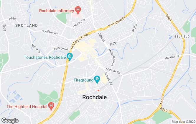 Map for Highfields Residential, Rochdale