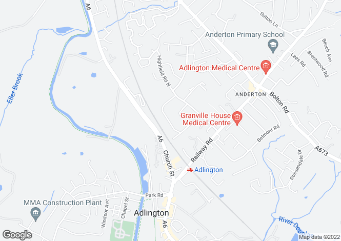 Map for Grove Crescent, Adlington, Chorley, Lancashire