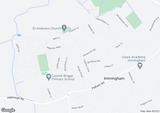 Map for Clyfton Crescent, Immingham, DN40