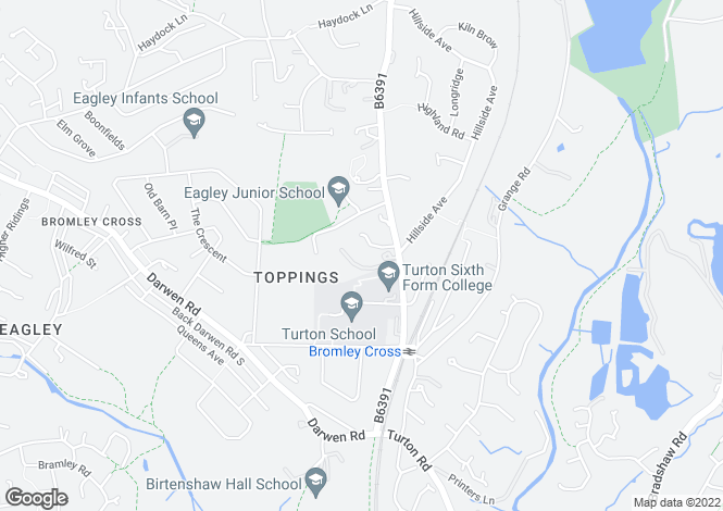 Map for Chapeltown Road, Bromley Cross, Bolton