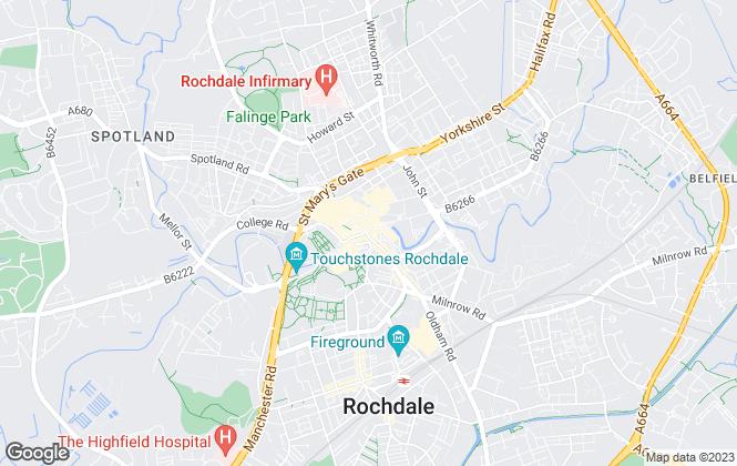 Map for Reside Estate Agency, Rochdale