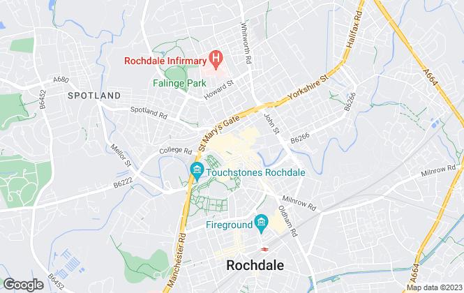 Map for Edward Alexander Estate Agents, Rochdale