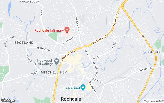 Map for Ryder & Dutton, Rochdale