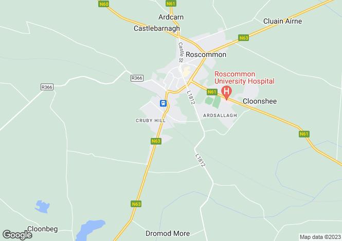 Map for 1 Antogher Court,, Roscommon, Roscommon