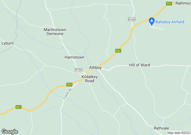 Map for Rathmore, Athboy, Meath