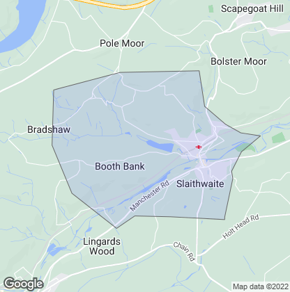 Map of property in Slaithwaite