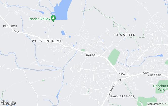 Map for AJ Properties, Rochdale