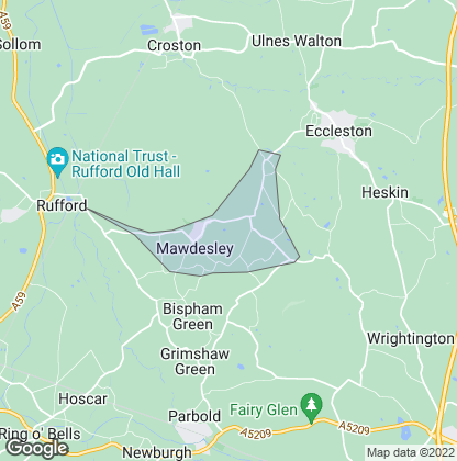Map of property in Mawdesley