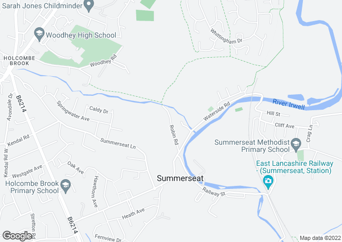 Map for Robin Road, Summerseat