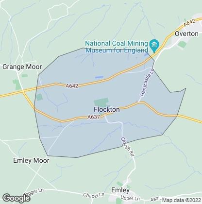 Map of property in Flockton