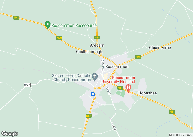 Map for Loughnanaane, Lough Road, Roscommon