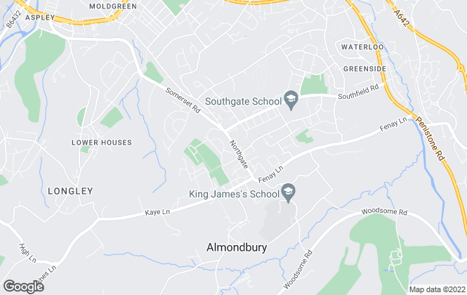 Map for Paisley Properties, Almondbury