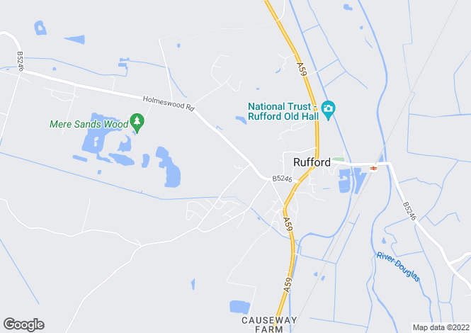Map for Croft Hey, Rufford, ORMSKIRK