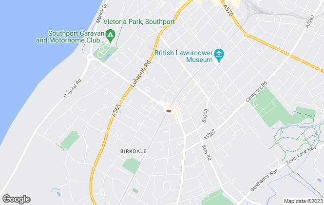 Map for LPL Estates, Southport