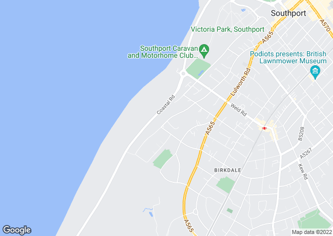 Map for Westbourne Road, Birkdale, Southport